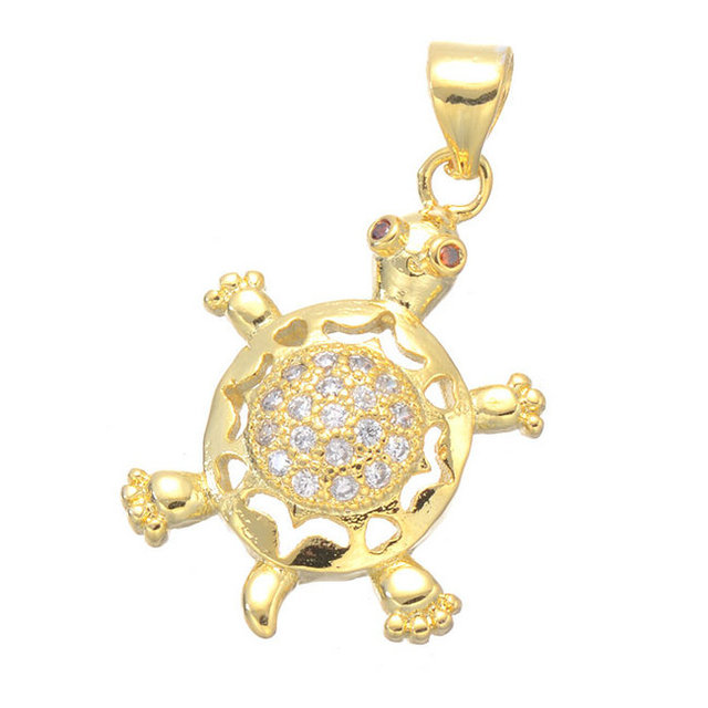 Hot sale 2017 gold turtle pendant brass micro pave animal pendants hot sale 2017 gold turtle pendant brass micro pave animal pendants for diy jewelry making 5pcs aloadofball Image collections