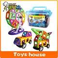 Designer de 100 pcs de construção Magnético blocos de construção magnético brinquedos modelo de construção kits brinquedos para crianças blocos de construção ímã