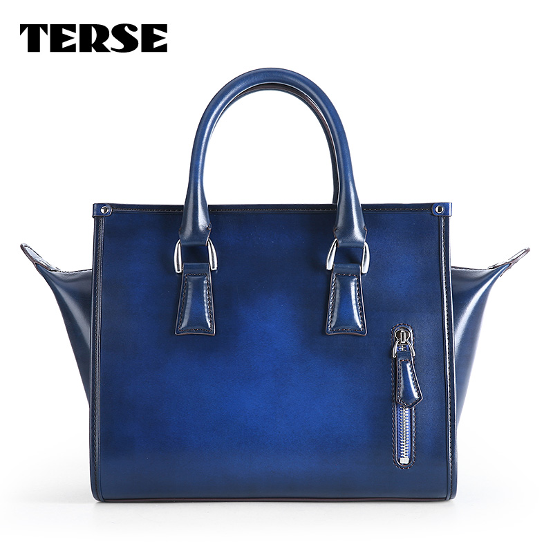 TERSE_New release leather womens handbag luxury genuine leather tote bag in blue/ burgundy/ green blue bat handbag for female bigbang 2012 bigbang live concert alive tour in seoul release date 2013 01 10 kpop