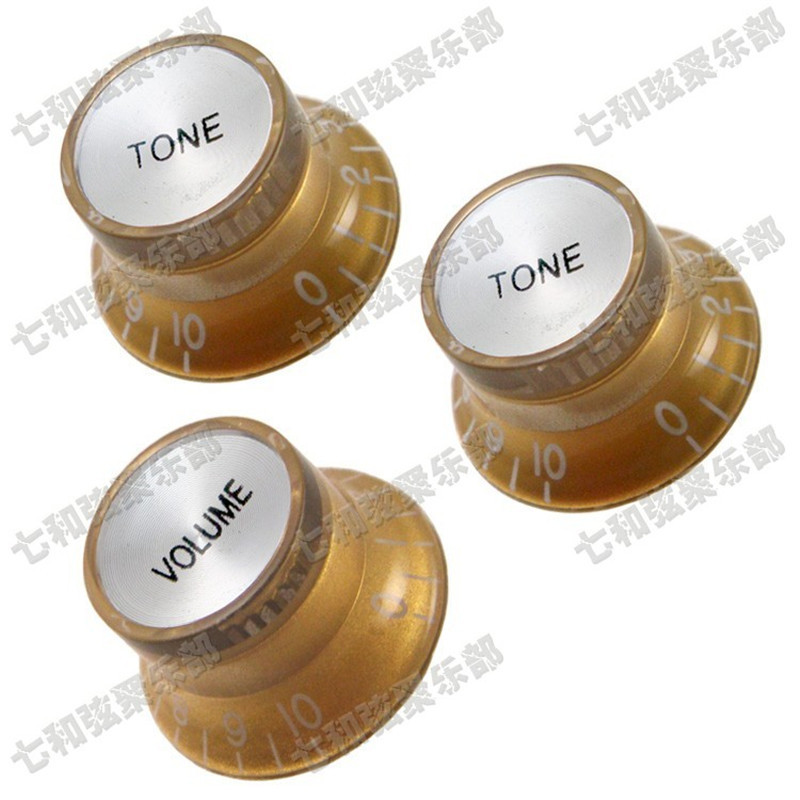 QHX Free shipping 10 sets Golden Speed Control Knobs for Electric Guitar guitar accessories parts