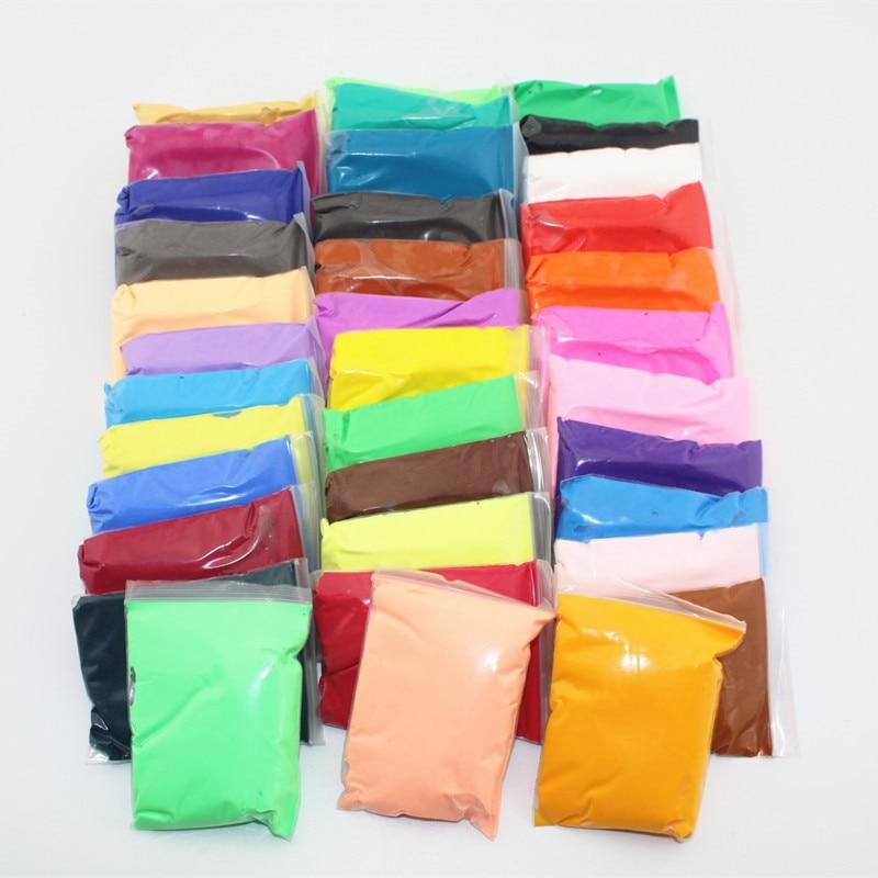 36 Color Light Clay Air Dry Polymer Plasticine Modelling Clay Super Light DIY Soft Creative Handgum Educational Playdough Toys цена 2017