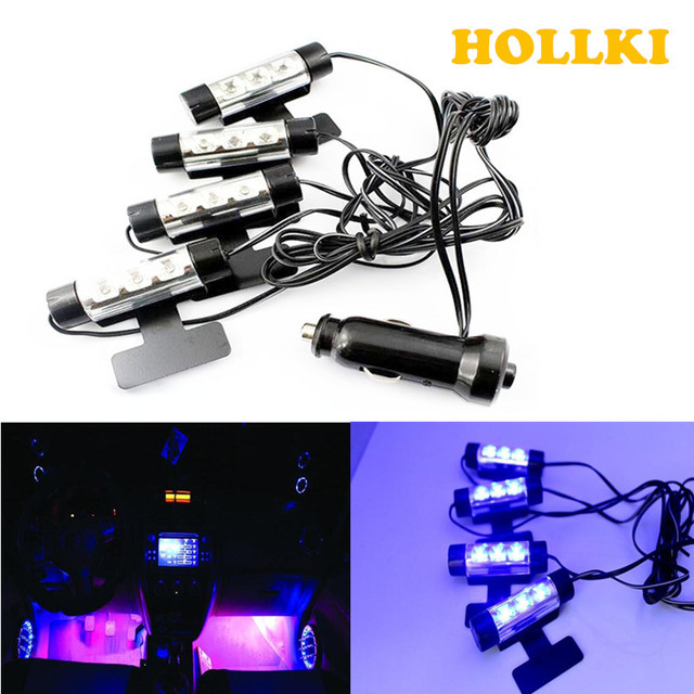 HOLLKI Auto RGB LED Strip Blauw Licht LED Strip Verlichting Auto ...