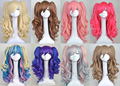 Long Curly 24 inches Lolita Cosplay Wigs Party Wig 8 Colors Hot pink/pink/pruple/brown/white Lolita cos wig With Two Ponytails