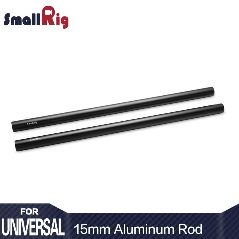 SmallRig 15mm Aluminum Alloy Rods 30cm / 12inch Long for Dslr Camera 15mm Rods System Camera Rail Rod Black (Pack of 2)--1053