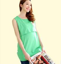 Korean summer pregnant women lactation vest cotton backing lactation clothes maternity tank tops SH-106