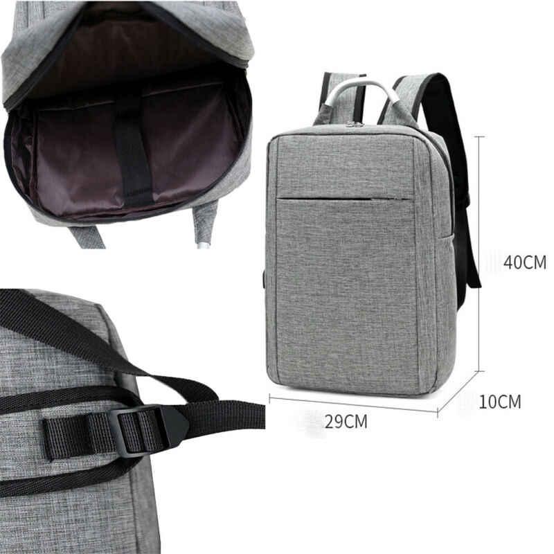 Çok fonksiyonlu anti-hırsızlık ofis erkek kadın USB şarj sırt çantası Laptop dizüstü seyahat okul iş çantası Oxford Ultralight çantası