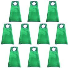 10 шт Специальный 70*70 см плотная зеленый Накидки с липучкой для мальчиков Игрушки День рождения душ костюм для мальчиков на Хэллоуин