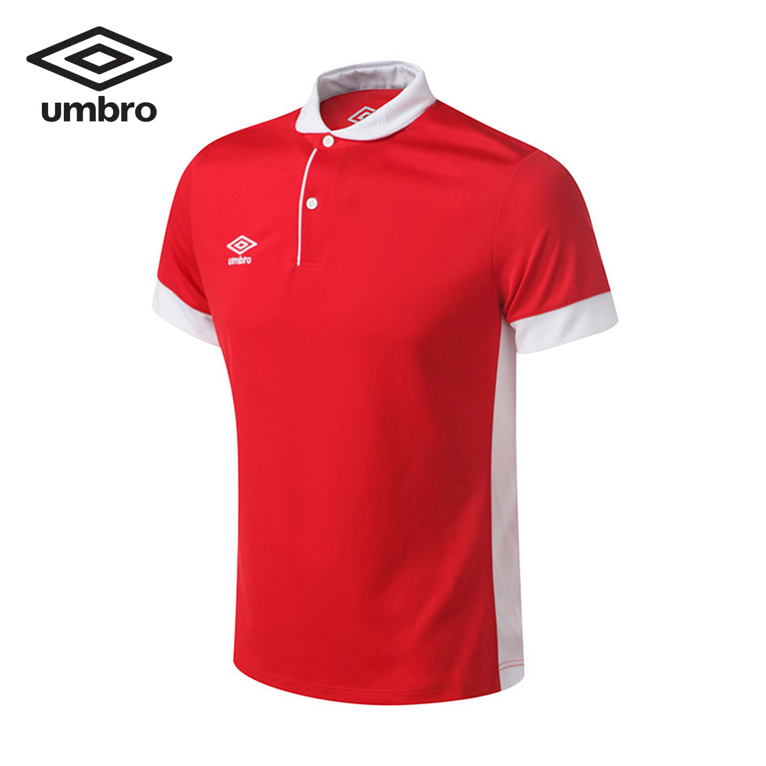 Umbro 2018 Summer Men Short Sleeved Polo Shirt Head Lapel Shirt Collision Color Splicing ...