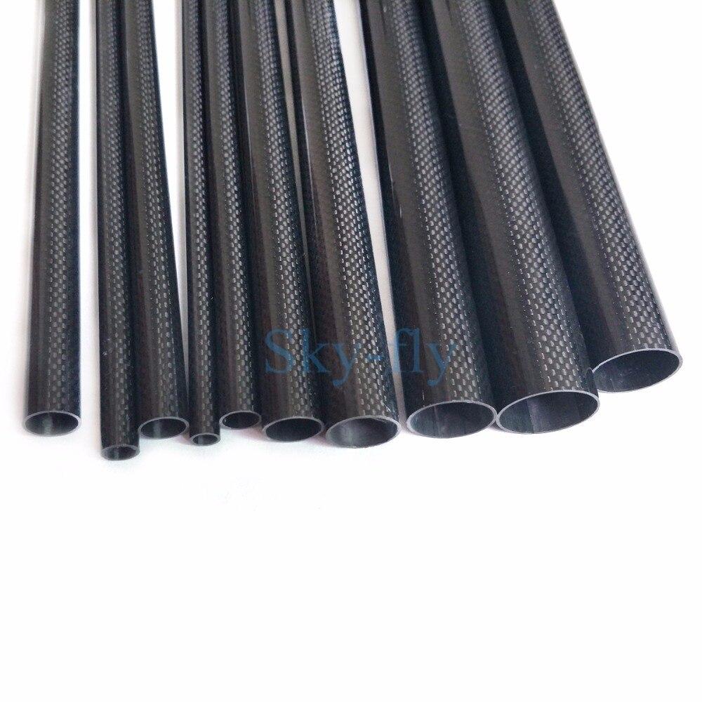 25MM OD X 23MM ID X 1000MM Carbon Fiber Tube Tail Boom Multi Rotor 3K High Gloss