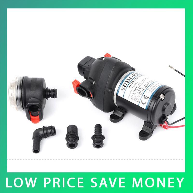 ФОТО 24V Mini Electric Diaphragm Pump DC Water Pump 8L/min Capacity Car Wash Pump