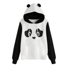 Darmowe strusia kobiety bluzy bluzy Panda bluza z kapturem bluza bluza z kapturem bluzki bluzka codzienna bluza z kapturem bluza C2735 tanie tanio FREE OSTRICH Poliester REGULAR Pełna Suknem Women Sweatshirt 350g Swetry Drukuj Na co dzień hoodies harajuku kpop moletom