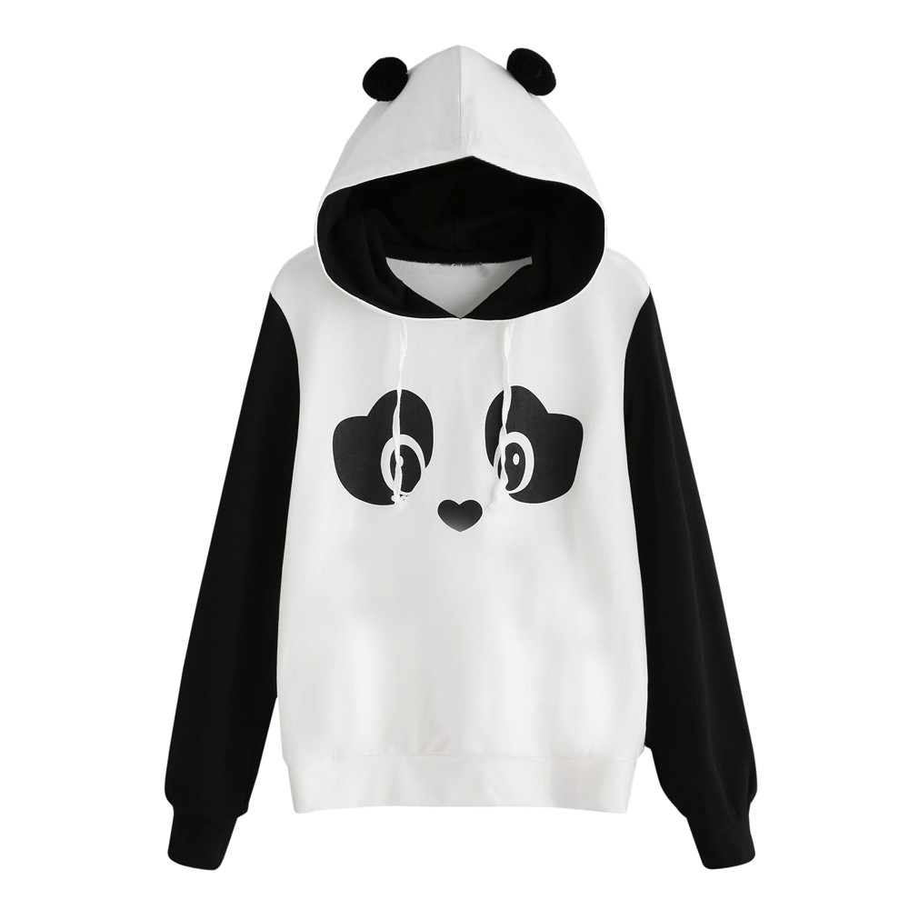 Free Ostrich Women Hoodies Sweatshirts Panda Hoodie Sweatshirt Hooded Pullover Tops Blouse Casual Hoodie Sweatshirt C2735