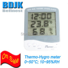Cheapest prices Indoor Digital Hygrometer & Thermometer with Clock and Big LCD Screen