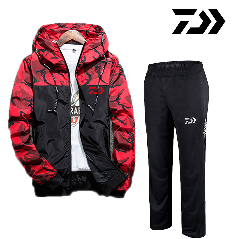 2019 Daiwa Men Fishing Clothing Suits Summer Breathable Anti Uv Fishing Shirts And Fishing Pants Outdoor