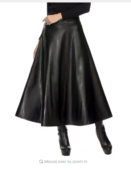 Winter Pu Leather Skirt Women Maxi Long Skirts Womens High Waist Slim Autumn Vintage Pleated Skirt Black Xl Xxl in Skirts from Women 39 s Clothing