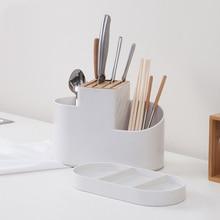 HS040 Kitchen multifunctional Five holes kitchen drain chopsticks tube lattice shelf storage rack 24.8*11.8*20.1cm