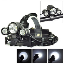 PANYUE High Power 3000 Lumen T6 +2R2 4-modes Headlight Flashlight Frontal Headlamp Bike with light Holder