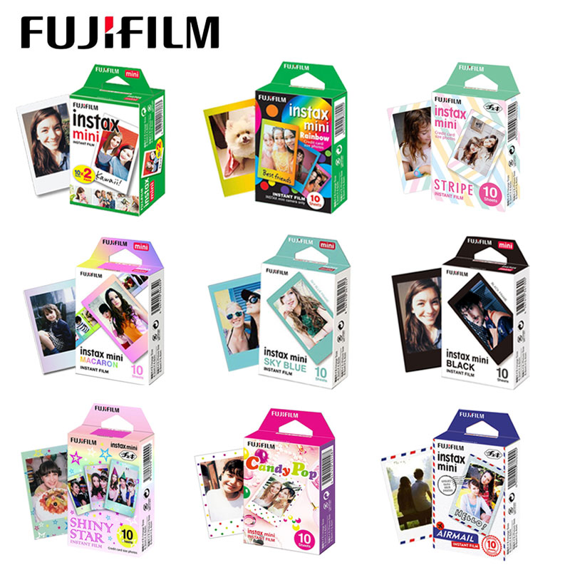 10-60 sheets Fuji Fujifilm instax mini 9 8 white Colour Edge Fims for instax Instant Camera mini 8 9 7s Photo paper image