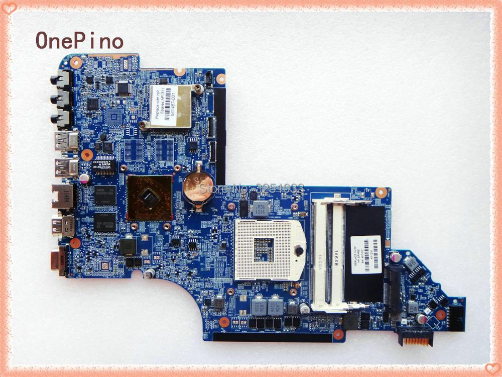 641487-001 FOR HP Pavilion DV6-6000 Laptop Motherboard DDR3 HM65 HD6490/1G full test board 665347 001 for hp dv6t 6c00 notebook dv6t 6b00 notebook pavilion dv6 dv6 6000 laptop motherboard pga989 ddr3 hm65 hd6490 1g