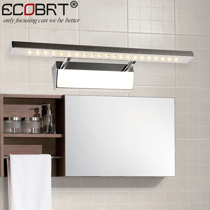 ECOBRTT Contemporary 9w Led Mirror Lamps Wall Mounted Bathroom Lighting Good Quality Stainless Steel Ce amp rohs 70cm. Online Buy Wholesale good bathroom lighting from China good