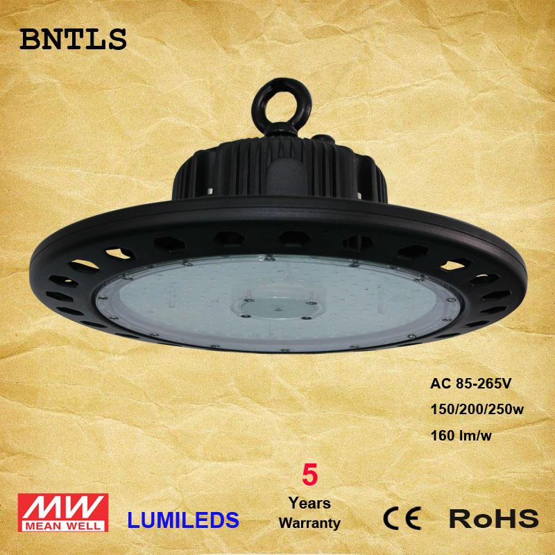 ETL Certified 150W LED High Bay UFO Light, Replacement for 600W HID/HPS, 5000K Daylight White, LED Warehouse Lighting