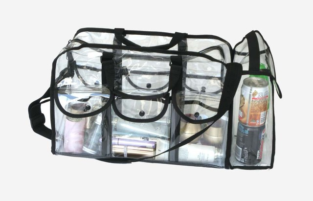 934257404b 2014 new design professional big transparent fashion makeup travel bag pvc kiss  beauty makeup organizer case