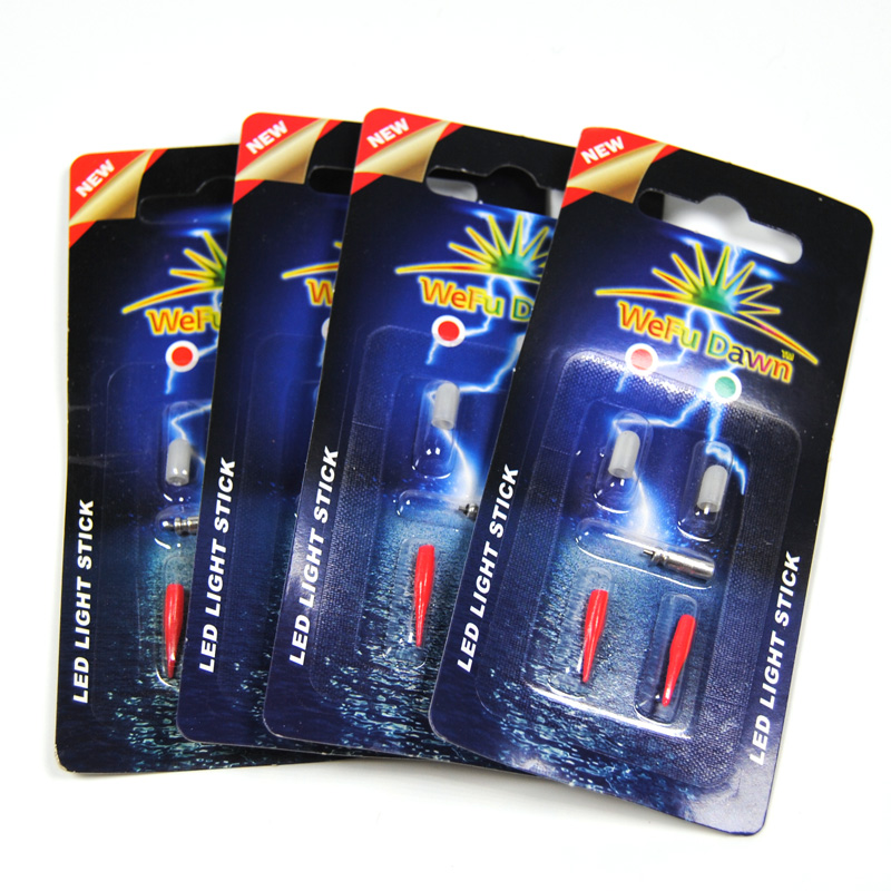 [4-packs] ZEER KLEINE Rood / Groen Mini 3mm Body Elektronische Rod - Visvangst - Foto 3