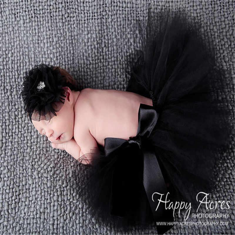 Falda de tutú de tul negro y rojo para bebé recién nacido falda de fiesta de cumpleaños para niño