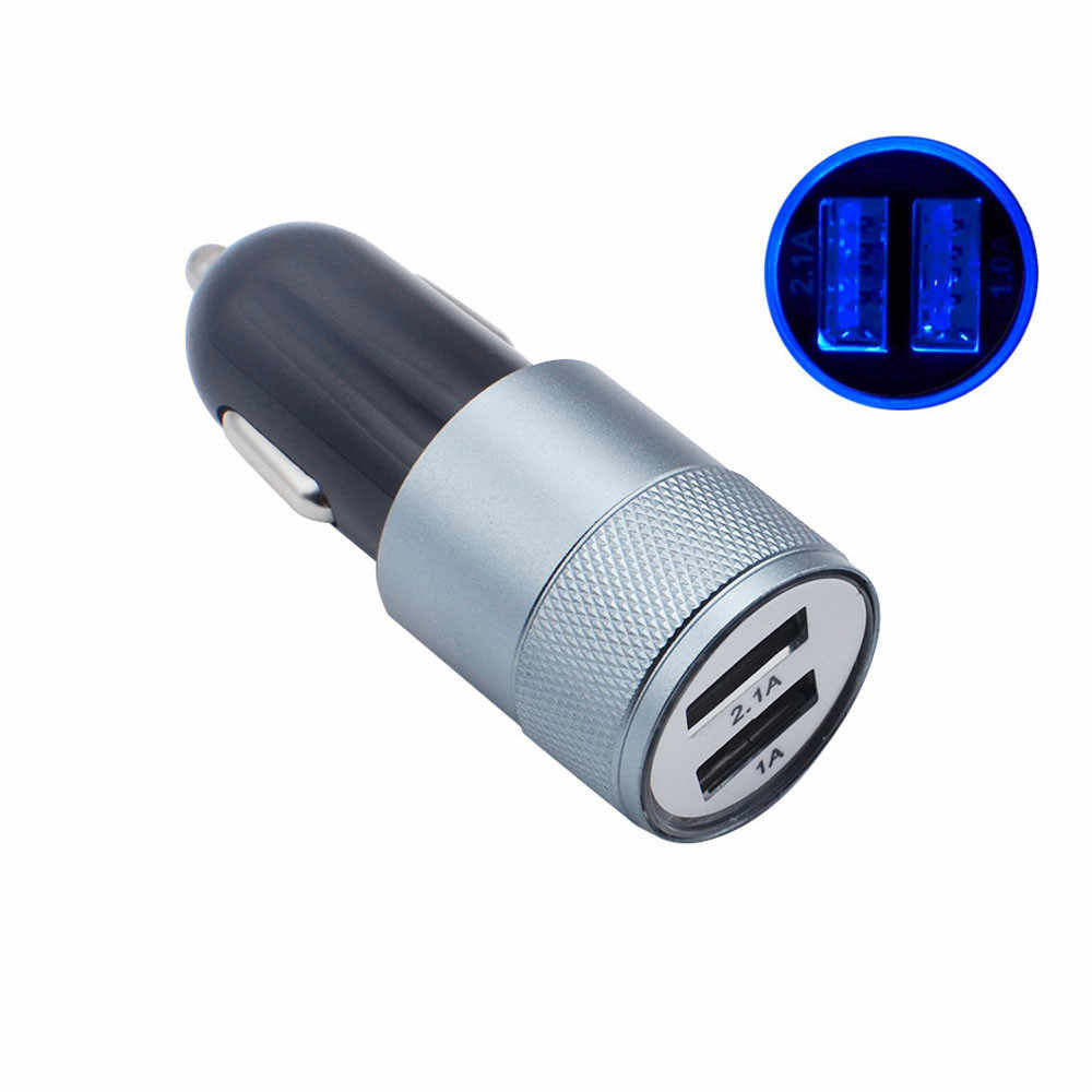 New 2-Port DC 3.1A Output USB Faster Charger Universal Car Charger For iPhone6/6s/7 Smart Phones #S