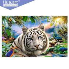 Hua.Art diamond painting, diamond embroidery, animal, tiger, forest, peacock, bird, butterfly, home decoration, diamond mosaic