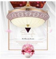 Новый Невидимый светодиодный потолочный светильник с лампой французский золото декоративные потолочный с дистанционным управлением веер