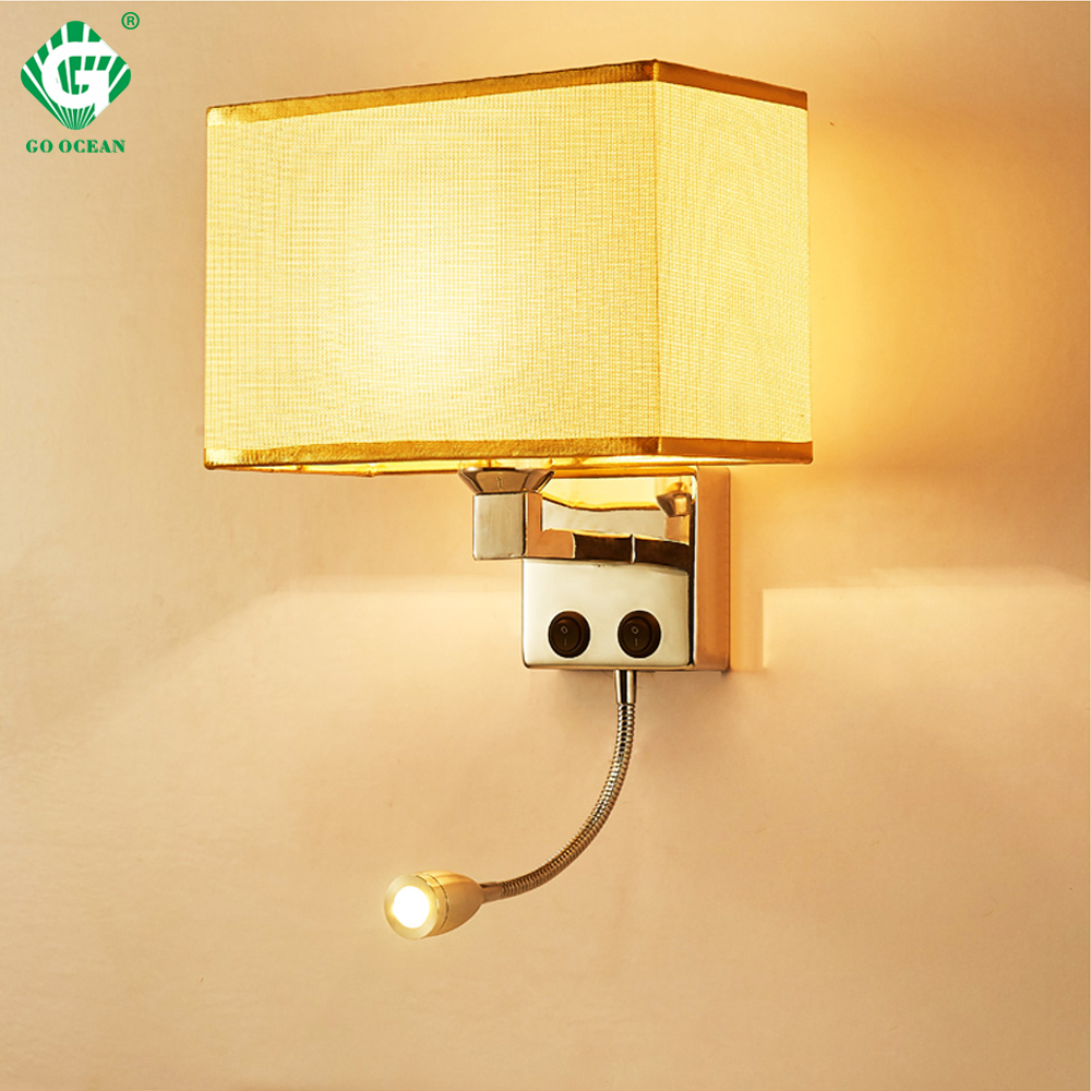 Us 38 2 19 offled wall lights sconce in the bedroom interior wall sconces with switch e27 bulb usb mordern black indoor bedside lamp headboard in