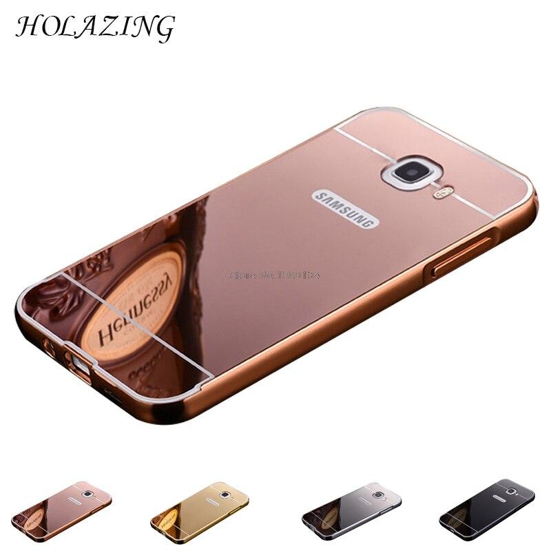 Holazing 2 в 1 съемная металлический Алюминий бампер для Samsung Galaxy J5 премьер/On5 2016 с зеркалом назад Твердый переплет