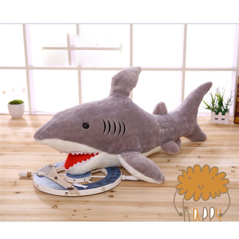 Hiinst soft toys Cute Sharks Doll Plush Toys Sea Jaws Pillow Stuffed Animals Soft Plush Toys New*R Gift plush toy Drop shipping
