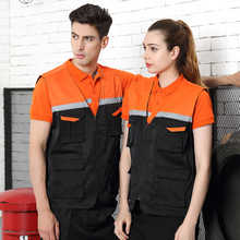 Wholesale Men Utility Work Vest With Reflective Tapes Photog