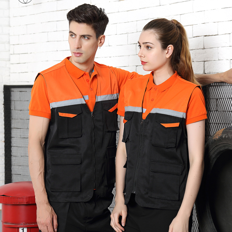 Wholesale Men Utility Work Vest With Reflective Tapes Photography Fishing Travel Outdoor Work Clothes Waistcoat Jackets