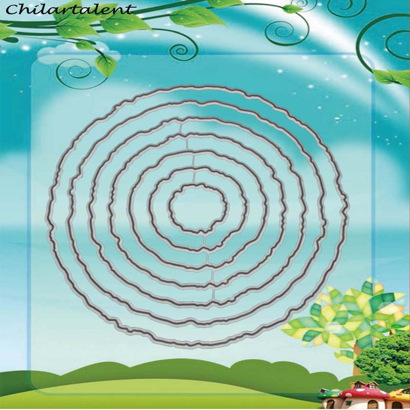 Matrices Scrapbooking cercle cadre creux métal découpe matrices nouveau 2018 artisanat timbres gaufrage carte faisant pochoir nouveau arrivage