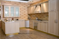 PVC/vinyl kitchen cabinet(LH PV074)