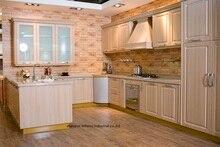 PVC/vinyl kitchen cabinet(LH-PV074)