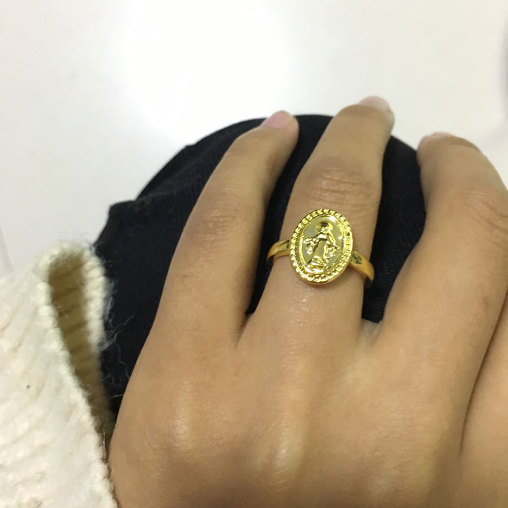 Round Rings Virgin Mary...