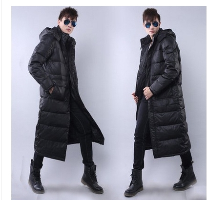 Free shipping !!!The man with long down jacket Male new winter thickening over-the-knee big yards down jacket to keep warm coat