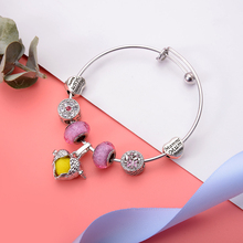 Trendy Luxury Brand Women Bracelet Silver Plated Charm For DIY 925 Beads Bracelets & Bangles Jewelry Gift