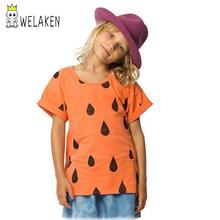 2016 Girls clouds rains T-shirt 2016 New Children Outfit For Summer Brand kid Wear Raindrop Style