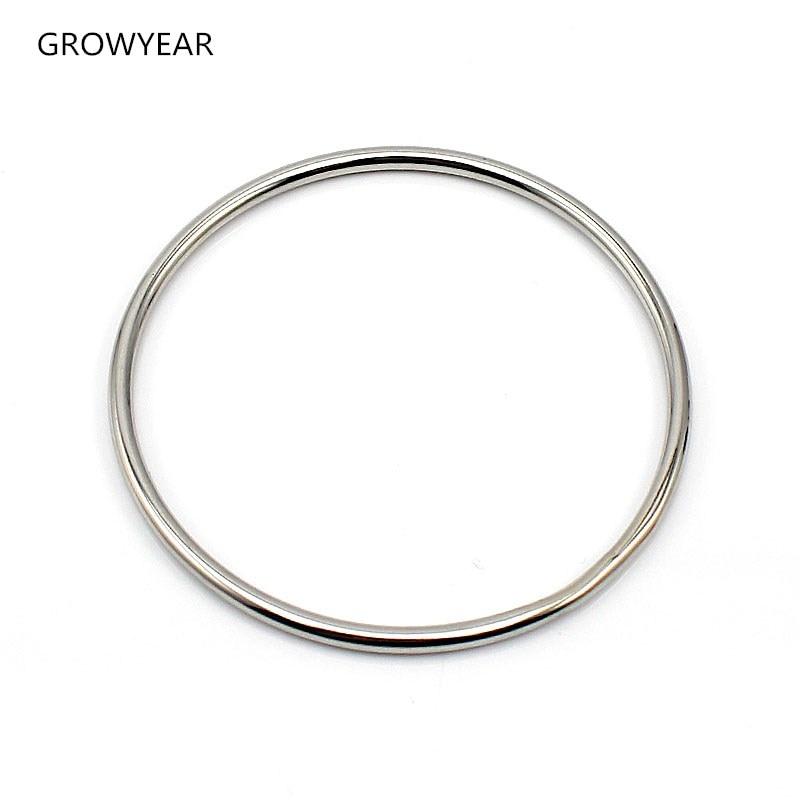 Acero inoxidable brazalete de joyería casual simple plata color círculo  pulsera para las mujeres envío de la gota 4f2e125d659a