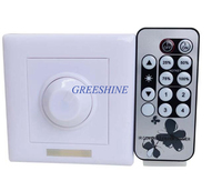 Free Shipiing AC110V 220V 120 200W IR Knob PWM Triac LED Dimmer Switch Remote Controller For