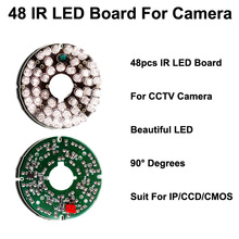 48 IR Leds Infrared IR Board CCTV Camera 90 Degrees suit for 75 diameter cctv camera LED board for Security camera