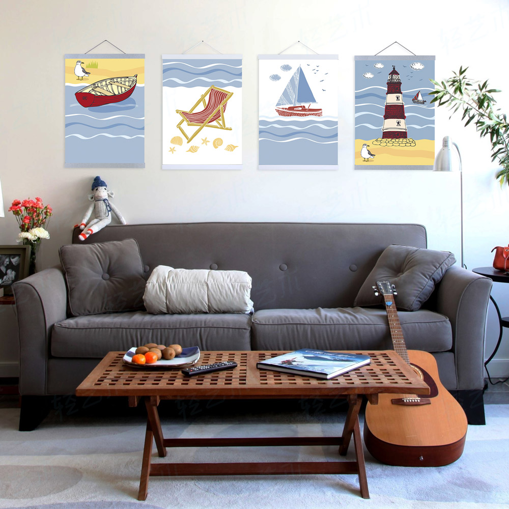 Home interiors and gifts framed art - Modern Summer Beach Ocean Lighthouse Seascape A4 Large Art Print Poster Wall Nautical Picture Canvas Painting