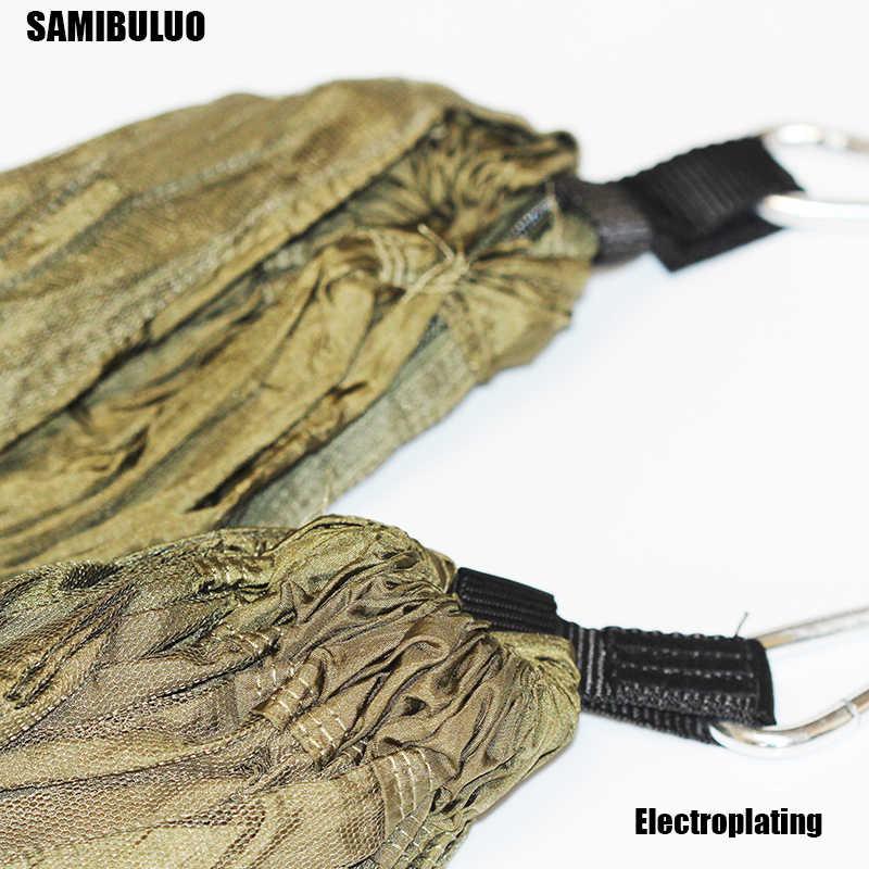 Переносная противомоскитная сетка Кемпинг гамак Открытый Сад Гамак для путешествий парашют ткань повесить кровать-гамак