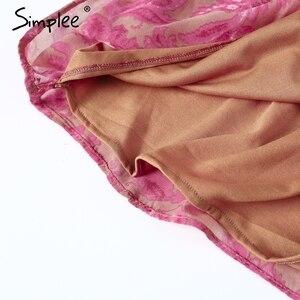 Image 5 - Simplee Backless lace up floreale delle donne della tuta del pagliaccetto 2018 Della Stampa femminile della tuta sexy di estate tuta tuta catsuit body