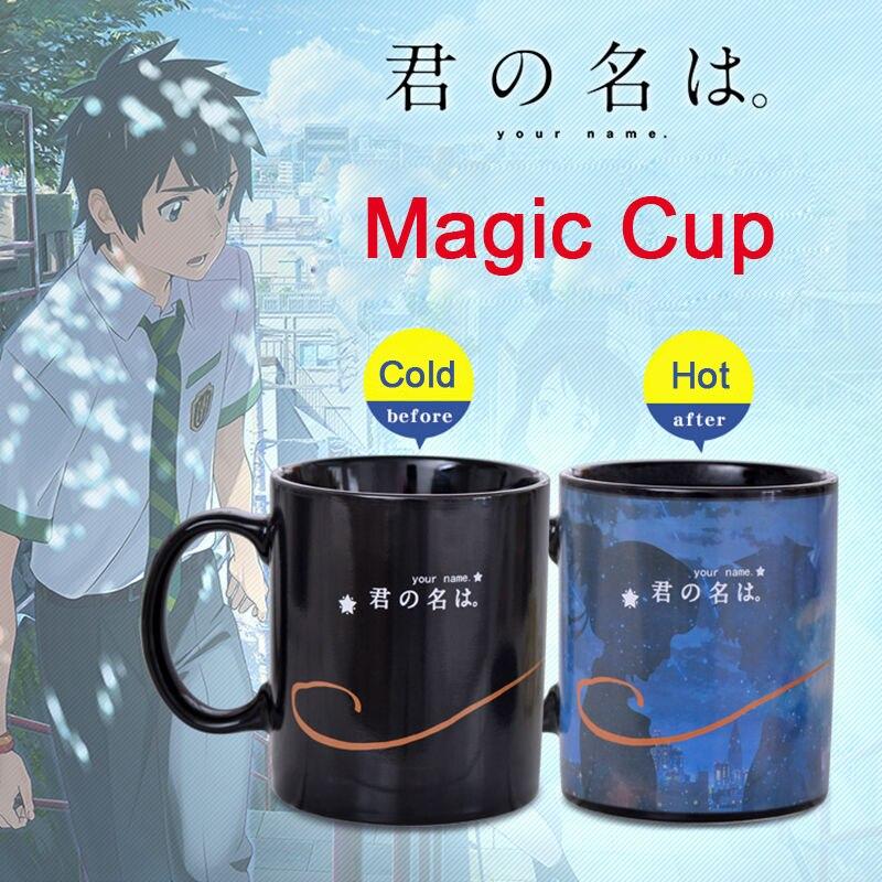 Anime Movie Your Name Heat Color Changing Mug Mitsuha & Taki 280ml Magic Ceramic Coffee Milk Tea Cup Mugs Friend Gift Collection